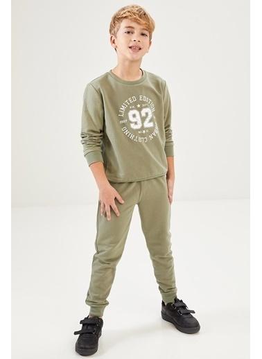 Defacto –Fit Erkek Çocuk Sweatshirt ve Eşofman Alt Takım Haki